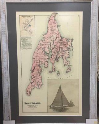 Historical Map Framed