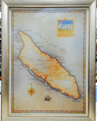 Historical Map Framing Edgewater MD